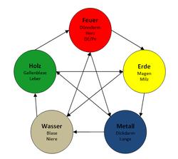 fünf Elemente chinesische Medizin